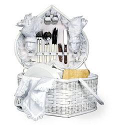 Honeymoon Hamper Heart Shaped Picnic Basket Wedding Gift Basket ...